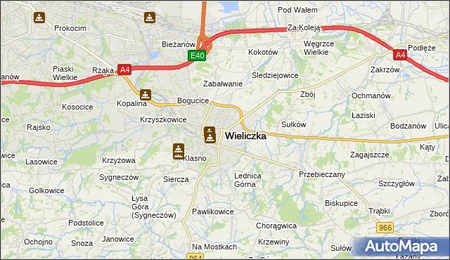 mapa Wieliczka, Wieliczka na mapie Targeo