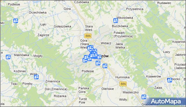 mapa Brzozów, Brzozów na mapie Targeo