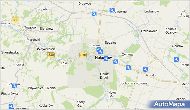 mapa Nałęczów powiat puławski, Nałęczów powiat puławski na mapie Targeo