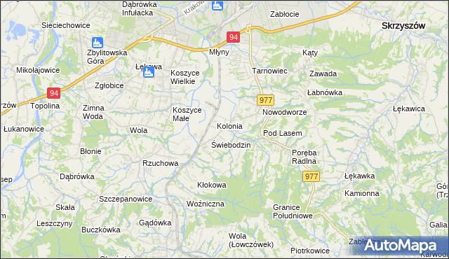 mapa Radlna, Radlna na mapie Targeo