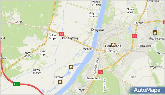 mapa Michale, Michale na mapie Targeo
