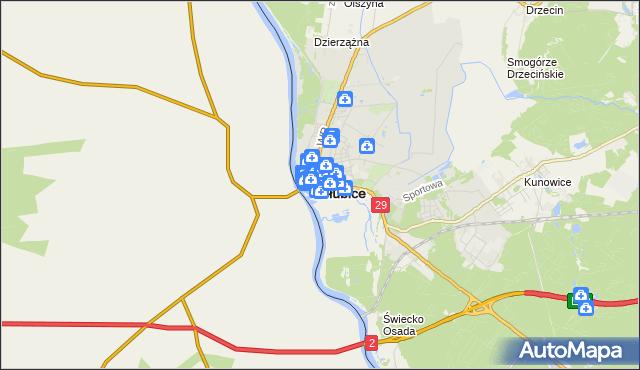 mapa Słubice, Słubice na mapie Targeo