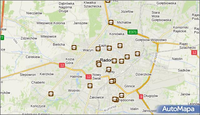 mapa Radomia, Radom na mapie Targeo