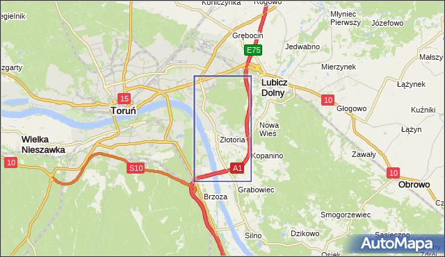 korki drogowe Autostrada A1 na mapie Targeo