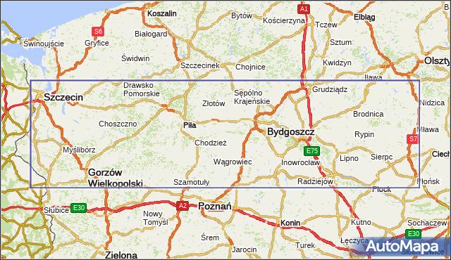 korki drogowe Droga krajowa nr 10 na mapie Targeo