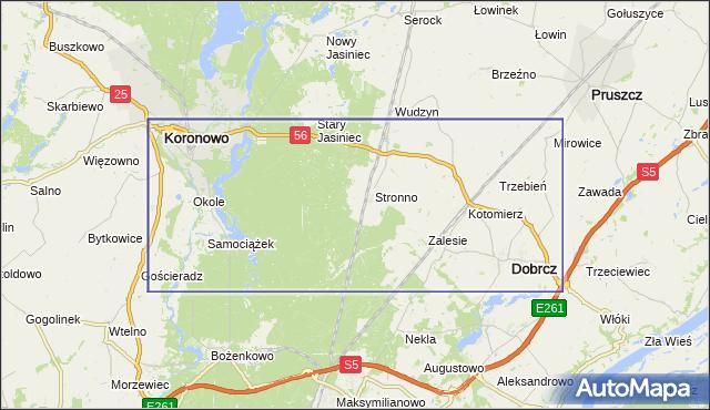 korki drogowe Droga krajowa nr 56 na mapie Targeo