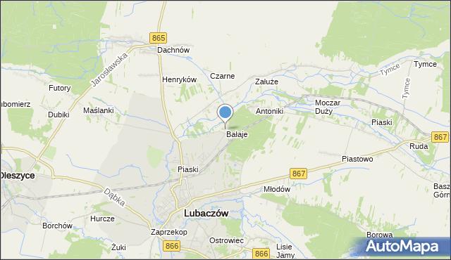 mapa Bałaje, Bałaje na mapie Targeo