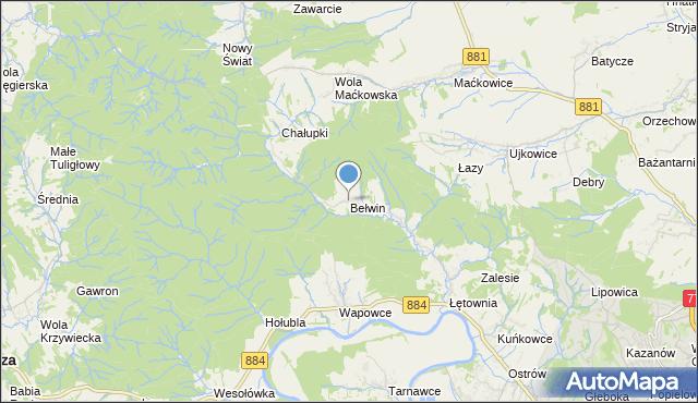 mapa Bełwin, Bełwin na mapie Targeo