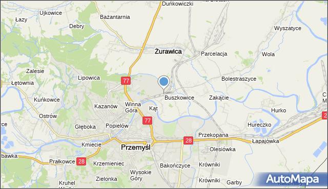 mapa Buszkowice, Buszkowice gmina Żurawica na mapie Targeo