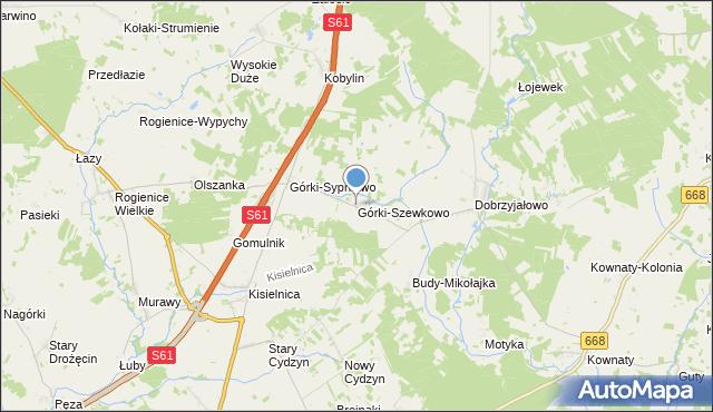 mapa Górki-Szewkowo, Górki-Szewkowo na mapie Targeo
