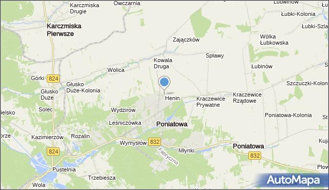 mapa Henin, Henin na mapie Targeo