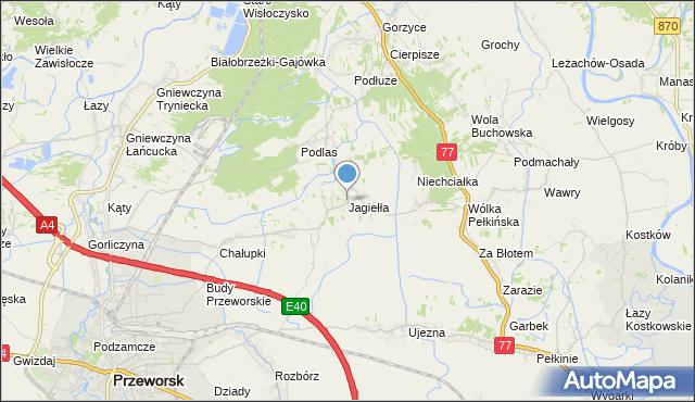 mapa Jagiełła, Jagiełła gmina Tryńcza na mapie Targeo