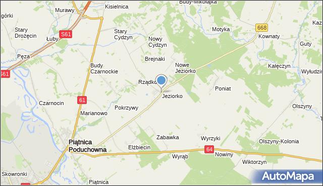 mapa Jeziorko, Jeziorko gmina Piątnica na mapie Targeo