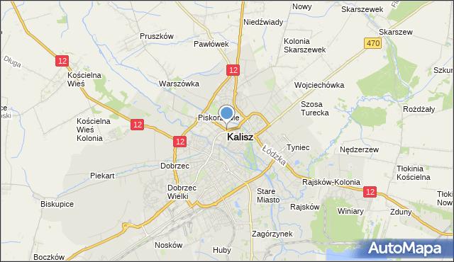 mapa Kalisza, Kalisz na mapie Targeo