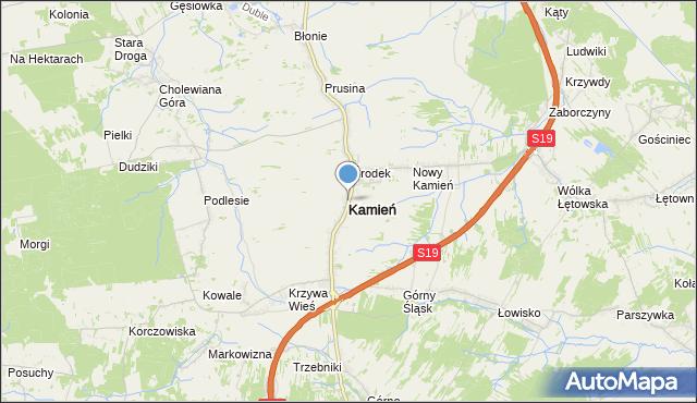 mapa Kamień, Kamień powiat rzeszowski na mapie Targeo