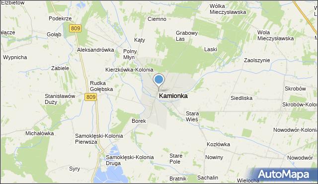 mapa Kamionka, Kamionka powiat lubartowski na mapie Targeo