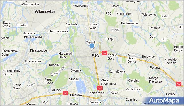 mapa Kęty, Kęty na mapie Targeo
