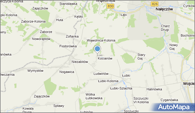 mapa Kocianów, Kocianów na mapie Targeo