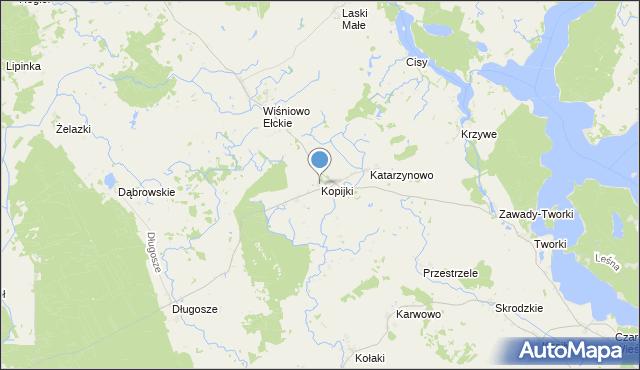 mapa Kopijki, Kopijki na mapie Targeo