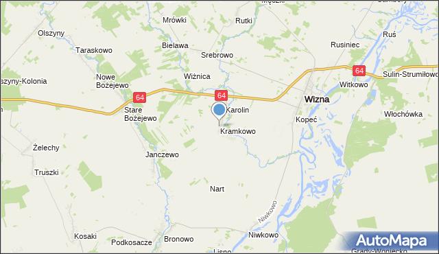 mapa Kramkowo, Kramkowo na mapie Targeo