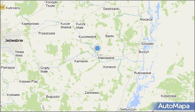 mapa Makowskie, Makowskie na mapie Targeo