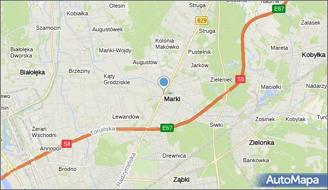 mapa Marki, Marki powiat wołomiński na mapie Targeo