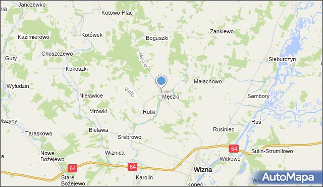 mapa Męczki, Męczki na mapie Targeo