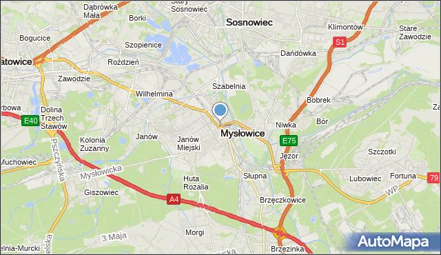 mapa Mysłowice, Mysłowice na mapie Targeo