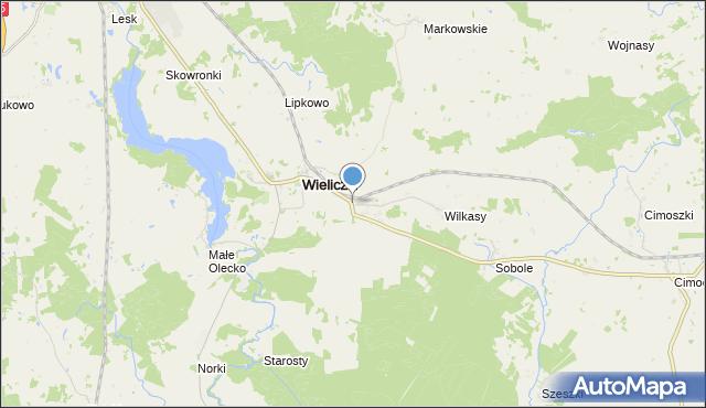 mapa Niedźwiedzkie, Niedźwiedzkie gmina Wieliczki na mapie Targeo