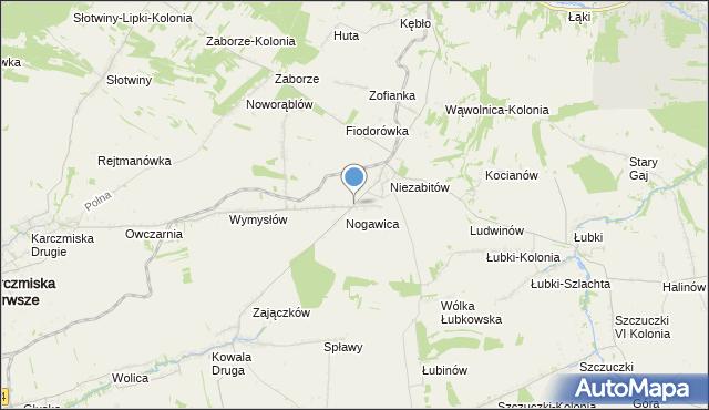 mapa Niezabitów-Kolonia, Niezabitów-Kolonia na mapie Targeo