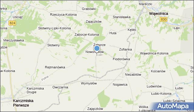 mapa Obliźniak, Obliźniak na mapie Targeo