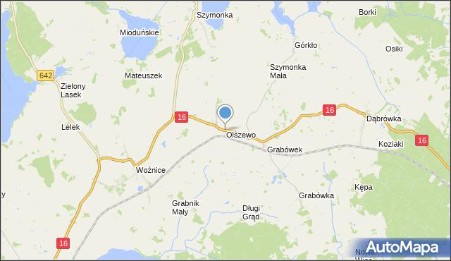 mapa Olszewo, Olszewo gmina Mikołajki na mapie Targeo