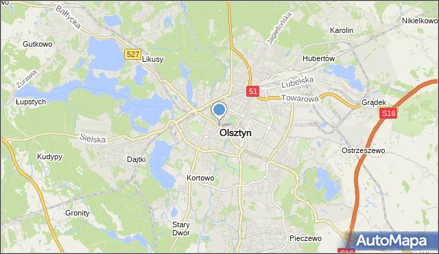 mapa Olsztyna, Olsztyn na mapie Targeo