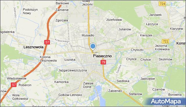 mapa Piaseczno, Piaseczno na mapie Targeo