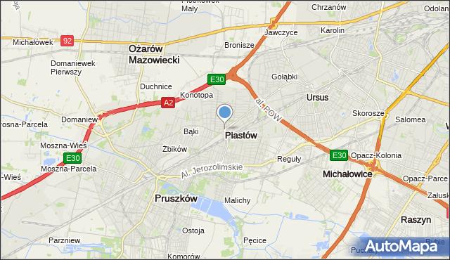 mapa Piastów, Piastów powiat pruszkowski na mapie Targeo