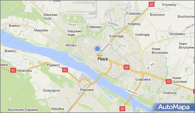 mapa Płock, Płock na mapie Targeo
