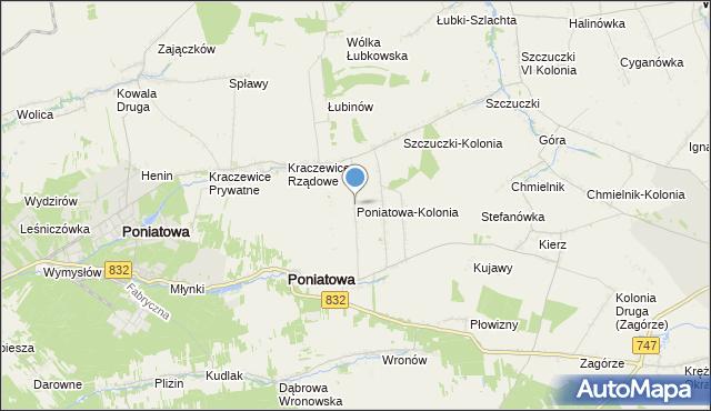 mapa Poniatowa-Kolonia, Poniatowa-Kolonia na mapie Targeo