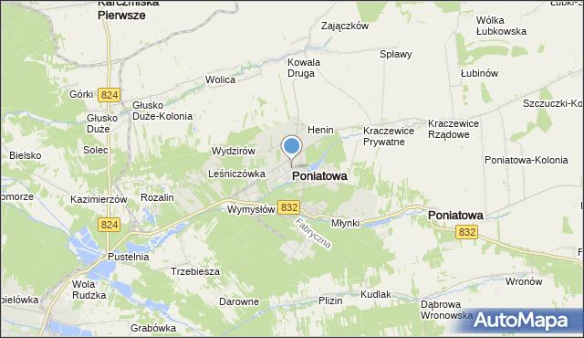 mapa Poniatowa, Poniatowa powiat opolski na mapie Targeo