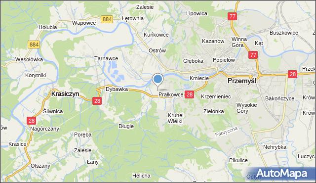 mapa Prałkowce, Prałkowce na mapie Targeo