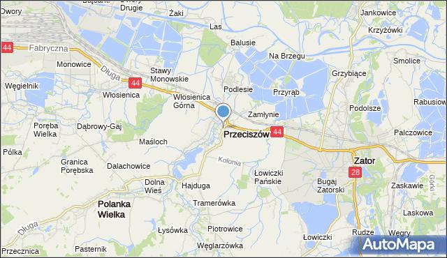 mapa Przeciszów, Przeciszów na mapie Targeo
