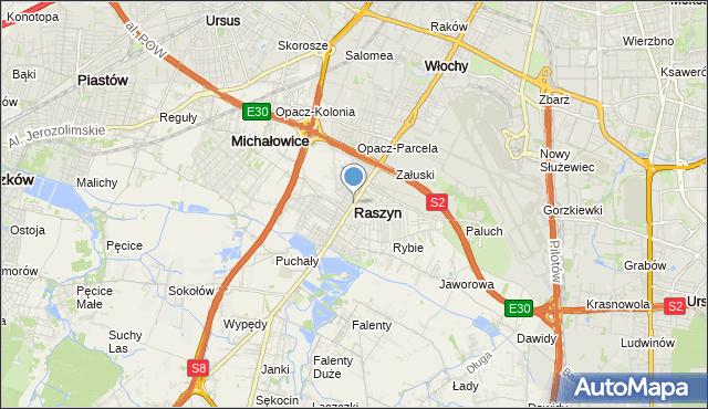 mapa Raszyn, Raszyn powiat pruszkowski na mapie Targeo