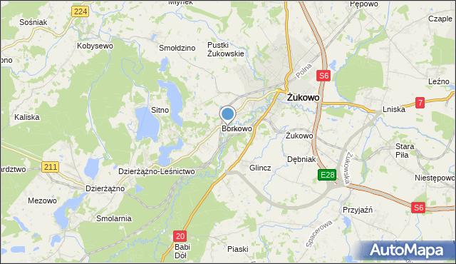 mapa Rutki, Rutki gmina Żukowo na mapie Targeo