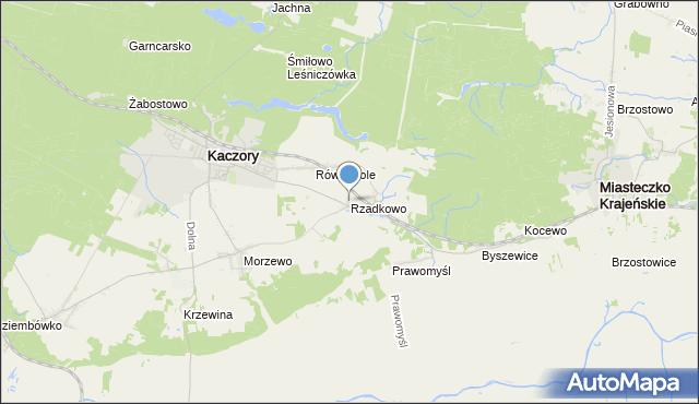 mapa Rzadkowo, Rzadkowo na mapie Targeo