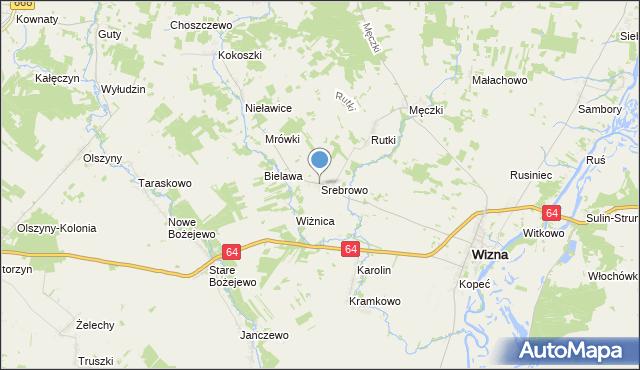 mapa Srebrowo, Srebrowo na mapie Targeo