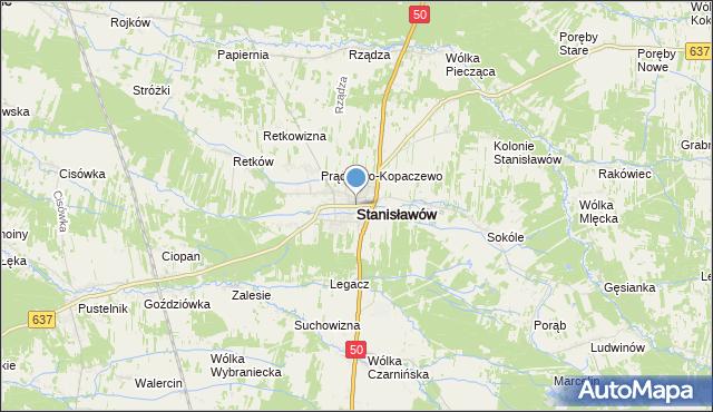 mapa Stanisławów, Stanisławów powiat miński na mapie Targeo