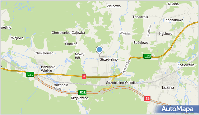 mapa Strzebielino, Strzebielino na mapie Targeo