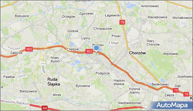 mapa Świętochłowice, Świętochłowice na mapie Targeo