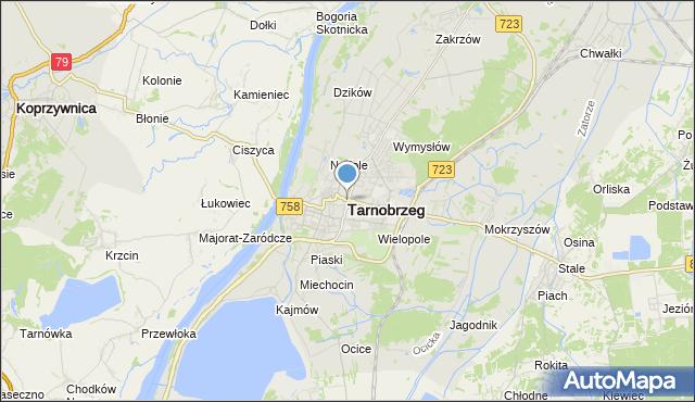 mapa Tarnobrzegu, Tarnobrzeg na mapie Targeo