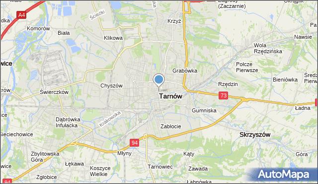 mapa Tarnów, Tarnów na mapie Targeo