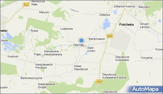 mapa Uher, Uher na mapie Targeo
